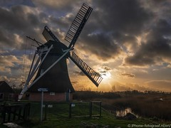 Windmill Noorddijk (iPhone Fotograaf) Tags: clouds landscape sunset sun winter groningen iphone8plus dutch sky windmill