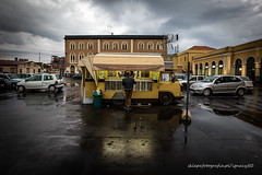 a short story about rainy espresso in Catania (ignacy50.pl) Tags: cafe catania food foodtruck citylife rain espresso coffee italy travel reportage people