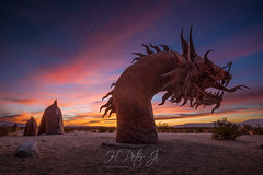 In strokes of yellow, orange and red (ScorpioOnSUP) Tags: adventure attractions borregosprings chasingsunrise clouds desert deserted desolate earlymorning landscape landscapephotography largesnake localattractions longexposure metal metalsculptures morning mountains outdoors roadtrip sculptures serpent solitude sunrise sunrisechaser sunriseglow travel trip