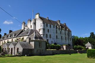 Dans les jardins, Traquair House (XVIIe), Innerleithen, Scottish Borders, Ecosse, Royaume-Uni.