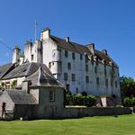 Dans les jardins, Traquair House (XVIIe), Innerleithen, Scottish Borders, Ecosse, Royaume-Uni. thumbnail