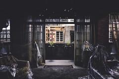 mimesis. (jonathancastellino) Tags: architecture series set room cover covered mimesis view false fake through window