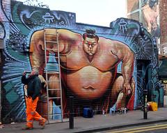 Shoreditch Street Art (scats21) Tags: benjaycrossman shoreditch streetart sumo wrestler