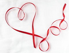 ODC - Red (lclower19) Tags: odc atsh takeaim love heart ribbon valentine red white closeup