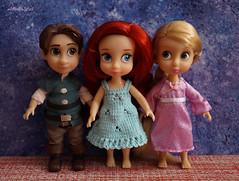 Disney Animators mini Flynn Rider, Rapunzel, Ariel (Alice_Milich) Tags: disney animators mini flynn rider rapunzel ariel