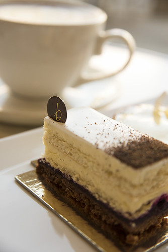 Vanilla Cassis Cake, b. patisserie, San Francisco