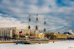 Old frigate in moorage St.Petersburg, Russia (Tony_Brasier) Tags: river raw russia rocks road bluesky buildings bridge boats flickr fun nikond7200 sigma snow sea ships 1750mm lovely location fishing