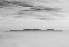 Marilyn Ryan Sunset Point Park, Rancho Palos Verdes, CA (hiliusir) Tags: island ocean sunset bw