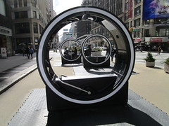 The LOOP Portable Zoetropes on Broadway NYC 7693 (Brechtbug) Tags: loop flip book style zoetropes broadway nyc optical animation with sound that you operate by moving roll bar back forth like gym equipment animations film motion picture movie illusion giant wheel wheels futuristic past nickelodeon art sculpture interactive outdoors loops hand operated drawn drawings play ground portable big zoetrope pop up