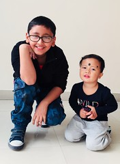 My kids (raju_singh001) Tags: kristiano anniesingh rajusingh kids children childrenplaying portraitofkid kidsplaying child