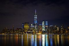 NYC Skyline-Reflected (Mather-Photo) Tags: colorful night beautiful scenic skyline cityscape city nyc newyorkcity bigapple reflections river water lights colors andrewmather andrewmatherphotography matherphoto kansascityphotographer canon photography worldtradecenter freedomtower skyscrapers