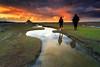 Y'a des soirs comme ça ... (Ludovic Lagadec) Tags: montsaintmichel france normandie sky sunset friend