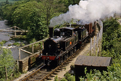 veterans at berwyn (midcheshireman) Tags: steam train locomotive llangollen llangollenrailway doubleheader freight coaltank halfcab wales