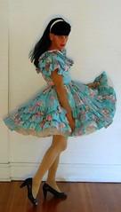 fiesta square dance dress (Classic Dresser) Tags: petticoat crossdresser squaredancedress