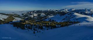 Panorama depuis La Berra (Switzerland)