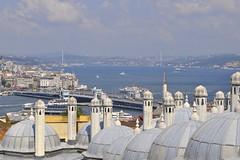 Istanbul (yonca60) Tags: istanbul turkey karakoy eminonu goldenhorn galatabridge galatakoprusu bridge cityscape suleymaniye suleymaniyecami tomb kubbe bogazicibridge ship houses buildings historicpeninsula tarihiyarimada oldistanbul