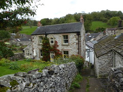 Bonsall (lesleydugmore) Tags: house alleyway uk england europe sky door window roof chimney stone drystoneway village bonsall peakdistrict derbyshire britain