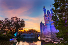 Magic Kingdom Sunset (MarcStampfli) Tags: cinderellacastle disney florida magickingdom mickeysverymerrychristmasparty nikond3200 themeparks vacationkingdom wdw waltdisneyworld