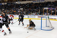 """Kansas City Mavericks vs. Cincinnati Cyclones, February 3, 2018, Silverstein Eye Centers Arena, Independence, Missouri.  Photo: © John Howe / Howe Creative Photography, all rights reserved 2018. • <a style=""""font-size:0.8em;"""" href=""""http://www.flickr.com/photos/134016632@N02/39220094155/"""" target=""""_blank"""">View on Flickr</a>"""