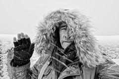 Self DxOFP XT2 DSCF1061 (mich53 - thank you for your comments and 6M view) Tags: autoportrait selfportrait monochrome noirblanc blackwhite frost neige hiver mich53 2018 france hello tempête xt2 xf1655mmf28rlmwr fujifilm snow