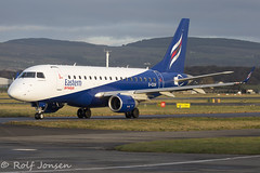 G-CIXW Embraer 170 Eastern Airways Glasgow airport EGPF 06.01-18 (rjonsen) Tags: plane airplane aircraft aviation taxying airside airport airliner