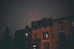 capricorn (parfois) Tags: montreal snow night loneliness solitude winter midnight red city dreams memory sky lofi filmgrain frozen