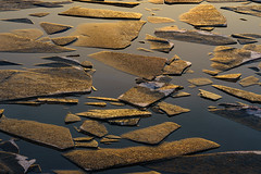 Broken (Adrian Mitu) Tags: sun sunset water reflection ice broken pieces nature lake golden hour outdoors details