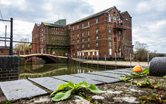 Unused (Peter Leigh50) Tags: factory mill river bridge building town townscape architecture fuji fujifilm xt10
