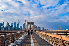 Brooklyn Bridge #1 (laurenspies) Tags: brooklyn manhattan newyorkcounty kingscounty newyorkcity newyork usa eastcoast northamerica unitedstates us financialdistrict nyc ny bridge brooklynbridge architecture cityscape skyscrapers