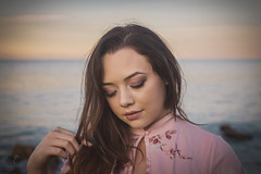 Her Sunset (Luv Duck - Thanks for 13M Views!) Tags: genevieve beautifulgirl californiagirls californiacoast pacificgrove lovely attractive naturalbeauty modeling