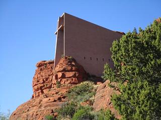 Historic Southwest Holy Architecture: Exterior of Chapel of the Holy Cross, Sedona, AZ