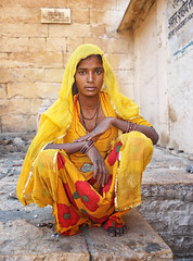 rajasthan - india 2018 (mauriziopeddis) Tags: jaisalmer rajasthan india yellow portrait ritratto people street canon tribe tribal indian reportage