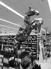 """- d a r k . h o r s e (Mike Fritcher) Tags: neimansfamilymarket blackandwhite puremichigan advertising darkhorse mikefritcher """"darkhorsebrewery"""" tawas drinking alcohol bw"""