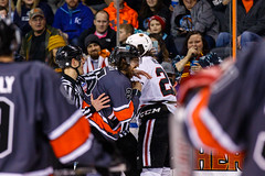 "Kansas City Mavericks vs. Indy Fuel, February 17, 2018, Silverstein Eye Centers Arena, Independence, Missouri.  Photo: © John Howe / Howe Creative Photography, all rights reserved 2018 • <a style=""font-size:0.8em;"" href=""http://www.flickr.com/photos/134016632@N02/39676656074/"" target=""_blank"">View on Flickr</a>"