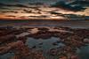 Sunset (n.pantazis) Tags: longexposure sunset sea sky rocks cloudy attiki attica pentaxks2 tamron pov wideangle hdr topaz neutraldensity coast clouds