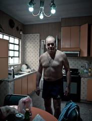 """El Capo"", La Plata, Argentina, 2017 (Camille Marotte) Tags: 2017 leica portrait man standing kitchen house interior natural light vintage camillemarotte leicaq 28mm bokeh alone old"