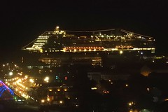 Cruise Ship in Willemstad, Curacao (Joseph Hollick) Tags: willemstad curacao night nightlights cruiseship hollandamerica
