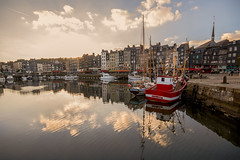 """the sun will soon set on the boats and buildings of the old and picturesque harbour, the Vieux Bassin, Honfleur, Calvados, Normandy, France (grumpybaldprof) Tags: canon 70d """"canon70d"""" sigma 1020 1020mm f456 """"sigma1020mmf456dchsm"""" """"wideangle"""" ultrawide honfleur normandy normandie france calvados """"vieuxbassin"""" """"oldharbour"""" """"quaistecatherine"""" """"quaiquarantaine"""" quai """"stecatherine"""" quarantaine water boats sails ships harbour historic old ancient monument picturesque restaurants bars town port colour lights reflection architecture buildings mooring sailing stone collombage halftimbered yachts reflections """"waterreflections """"eglisesaitecatherine"""" yacht voillier earlysunset """"fineart"""" striking artistic interpretation impressionist stylistic style"""