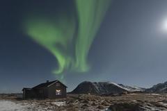The magic chimney - Sandøya Island - Norway (Giovanni Garani) Tags: lofoten norway norvegia norternlights auroraboreale notte night passaggio landscape viaggio travel