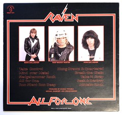 A0479 RAVEN All for One (vinylmeister) Tags: vinylrecords albumcoverphotos gramophone lp heavymetal thrashmetal deathmetal blackmetal vinyl schallplatte disque album