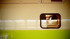 Coffee Time (theflyingtoaster14) Tags: coffee kaffee train railway schienen eisenbahn westbahn waggon pause break metall green grün glas glass wien vienna hauptbahnhof main station
