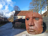 Bulkhead (geedub611) Tags: kent marlowe canterbury sculpture gravel sunlight sun lips mouth nose eye iron metal artwork art face