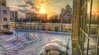 snow with sunshine