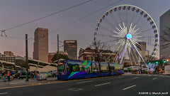 Atlanta, GA: Ground Zero - Centennial Olympic Park at Skyview (nabobswims) Tags: atlanta atlantastreetcar centennialolympicpark georgia hdr highdynamicrange ilce6000 lrv lightrail lightrailvehicle lightroom nabob nabobswims photomatix rapidtransit sel1018 skyview sonya6000 us unitedstates urban