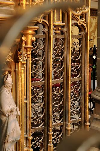 Kortrijk, West-Vlaanderen, Sint-Maartenskerk, tabernacle, detail