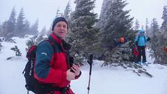 Karol , Iwona i pozostali ma Połoninie Czufrowej 1610m. Rozpoczynamy zjazd. Dzień 3. (Tomasz Bobrowski) Tags: skitouring narty białysłoń skitury góry czarnohora ski mountains skitura