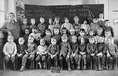 Class photo (theirhistory) Tags: children child boys kids school class form wellies jumper shoes boots jacket pupils students education
