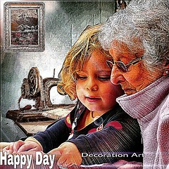 Happy Day  Decoration art by nodasanta  孫娘と伯母の幸福な一時の作品を、編集加工してアップしてます。 (nodasanta) Tags: instagramapp square squareformat iphoneography uploaded:by=instagram ludwig