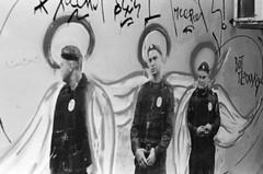 «Trinity» by Ivan Simonov (Andrey  B. Barhatov) Tags: moscow russia streets blackandwhite noiretblanc blackandwhiteonly mood streetart art graffiti monochrome monotone bnwmood bnwfilm bnw bw artinbw geobw pentaxmz7 pentaxart pentax d76 grain ru filmtype135 film analog filmfilmforever filmoriginal filmmood filmisnotdead filmphotography filmphoto police citywalks citywalk streetphoto streetnotes россия москва полиция город городскиезаметки пленка фотопленка чб ivansimonov ивансимонов чернобелое улицы printbypro barhatovcom msk msknoir dark noir takumarf70200mmƒ456 xodacevich стритарт маленькиелюди уличноеискусство полицейские