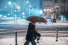 Against the wind (ewitsoe) Tags: winter snowstorm city warsaw canon eos6dii street urban urbanites snowing heavy weather ewitsoe ochota zima warszawa peopel pedestrian people
